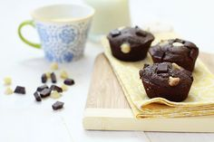 Whole Wheat Triple Chocolate Banana Muffins