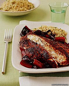 A spice rub with paprika, oregano, thyme, and pepper coats these fillets for a major flavor boost.