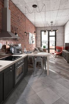 home decor for small spaces Bold Decor In Small Spaces: 3 Homes Under 50 Square Meters House Design, College Apartment Decor, Small Spaces, Bold Decor, Industrial Apartment, House Interior, Apartment Layout, Industrial Apartment Decor, Kitchen Design