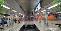 A view of Hanshin Umeda Station's platforms