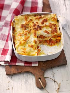 Kürbis - Lasagne mit Tomaten und Mozzarella