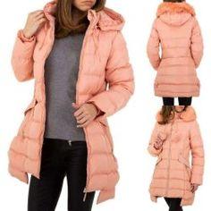 Rózsaszín 2in1 kifordítható szőrmés téli kabát Női ruha