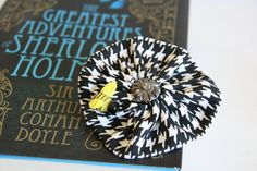 Houndstooth Hair Clip/Pin Sherlock Holmes by PaintFabricWhimsy