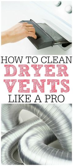 Save money with this AMAZING dryer vent cleaning tip! Get your clothes dry faster and prevent house fires. Clean your dryer vent like a pro! Vent Cleaning, Household Cleaning Tips, House Cleaning Tips, Spring Cleaning, Cleaning Hacks, Organizing Tips, Cleaning Recipes, Diy Cleaners, Cleaners Homemade