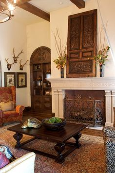 The Perfect Fireplace Screen For This Formal Space   Fireplace Accessories  Tuscan Decorating, Decorating Ideas