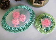 One large Large Soap Dish and One Small Mini Soap Dish in the color of your choice! Colors are not limited to what is shown. I have many choices not listed, please message me for color preferences and/or see some possible soap dishes listed here: http://www.zibbet.com/customcrochet/section/soap-dishesDo you ever get frustrated with the standard soap dishes