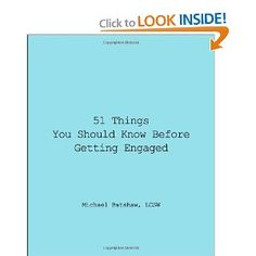 Amazon.com: 51 Things You Should Know Before Getting engaged: Michael Batshaw