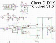 Power Amplifier Class-D D1K CLOCKED Class D Amplifier, Electronic Circuit, Clock, Layout, Electronics, Guys, Watch, Page Layout, Clocks