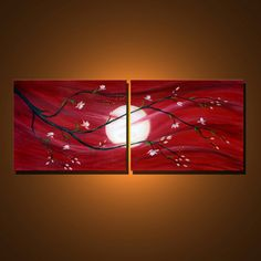 Moon Swept  Original Contemporary Abstract Modern by colorblast, $185.00