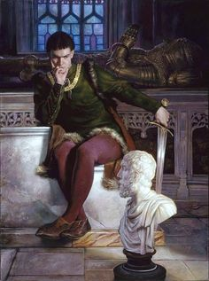 Henry V.  Donato Giancola. American illustrator. 1967 -    . oil on panel.