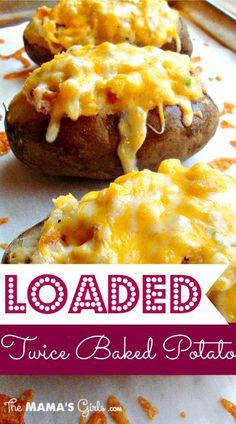 loaded twice baked potatoes