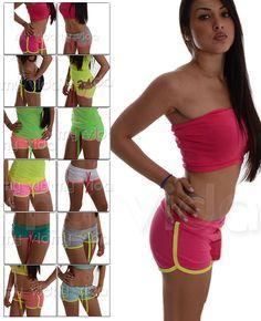 #Shorts #donna sportivi. #Pantaloncini estivi in misto cotone tuta #sport #fitness - info o acquisti: http://myvida.org/