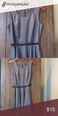 F21 circle skirt dress - S Like new condition. Classic circle skirt dress that comes with black belt. Forever 21 Dresses