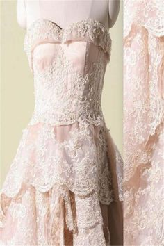 Vantage Pink Lace Sweetheart Classic Style Long A-line Wedding Party Dress b2fbe802b045