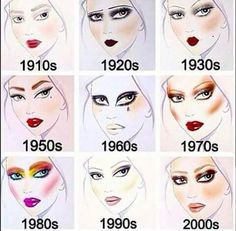 Makeup a través de las décadas