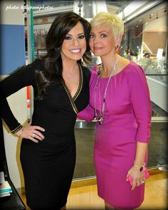 Photo of HLN Anchor Robin Meade and Meteorologist Samantha Mohr   Younger Impartial Politics - http://youngpoliticspodcast.com/