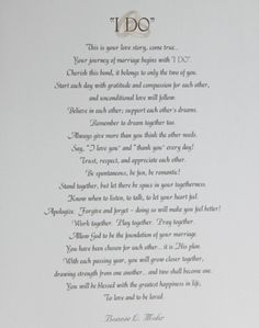 These wise words are to be lived by in a marriage. I couldn't have said it any better... I truly believe living this way will guide you to a happy lifelong marriage. Although it takes two! Not 50:50 but 100/100 You can have 50/50 when you divorce in a marriage it takes all you can give 100% divorce is easy & ppl are so quick to do it these days!  Always remember the 80/20 rule... Never fall for the 20% when you already have 80% meaning sometimes we feel we can leave our marriage for 20% we…
