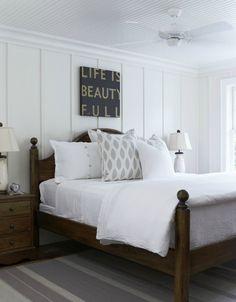 Bead board ceiling - master remodel | Lake House Lovin: Lake Muskoka