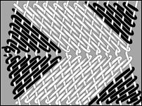 "Wedge weave __ Illustration by Kathleen Koopman. From ""Blanket Weaving in the Southwest"" by Joe Ben Wheat, edited by Ann Lane Hedlund, 2003, The University of Arizona Press."