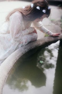 She gazed down at her reflection in the water and cried. The monster was her. She knew it. The water had shown her what she appeared like to others with her actions. Suddenly, change was the most beautiful thing in the world, because it was then she realized that beauty was not about the face.