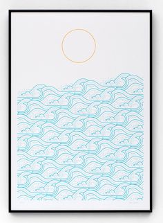 Waves screen print by The Lost Fox