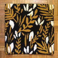 Mini Rug by Thread Art, Punch Needle, Rug Hooking, Needlepoint, Animal Print Rug, Needlework, Weaving, Cross Stitch, Arts And Crafts