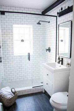 Incredible Small Bathroom Remodel Ideas unglaubliche kleine Badezimmer umgestalten Ideen This image has get Bathroom Renos, Bathroom Interior, Bathroom Cabinets, Bathroom Mirrors, Condo Bathroom, Bathroom Fixtures, Bathroom Tile Installation, Ikea Bathroom Vanity, Guys Bathroom