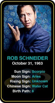 Celeb #Scorpio birthdays: Rob Schneider's astrology info! Sign up here to see more: https://www.astroconnects.com/galleries/celeb-birthday-gallery/scorpio?start=30  #astrology #horoscope #zodiac #birthchart #natalchart #robschneider