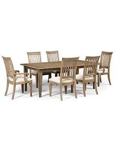 Scottsdale Dining Room Furniture, 7 Piece Set (Table, 4 Side Chairs and 2 Arm Chairs) - Dining Room Furniture - furniture - Macy's