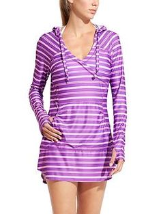 e9327a59fb443 Stripe Wick-It Wader - Our supremely-breathable UPF Wick-It™ fabric in a  longer-length hoodie cover-up to protect more of your skin.