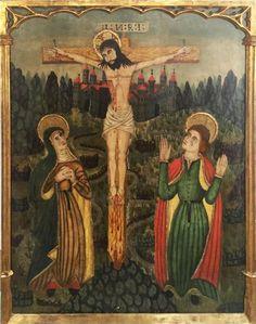 """Escuela Española del Siglo XV: """"Cristo en la cruz"""""""