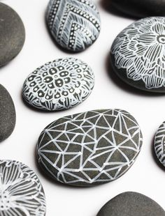 White sharpie and stones - just lovely!