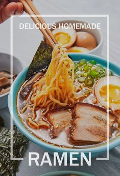 Obsessed with ramen? It's time to try making it at home! Get the recipe at .You can find Ramen. Meatloaf Recipes, Chili Recipes, Asian Recipes, Ethnic Recipes, Pork Recipes, Homemade Meatloaf, Easy Recipes, Keto Recipes, Rigatoni D Recipe