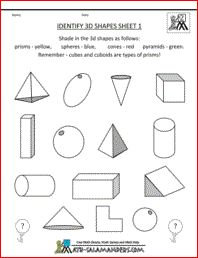 Identify 3d Shapes, second grade geometry