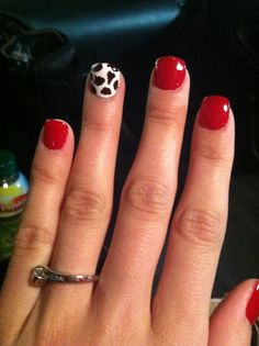 Cow print nails! Rodeo Nails, Western Nails, Country Nails, Cow Nails, Nailart, Nails For Kids, Cow Print, Nail Art Tools, Cute Nail Designs