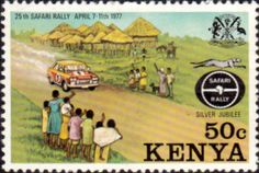 Postage Stamps Kenya 1977 Safari Rally SG 81 Fine Mint Scott 76 Other Kenya Stamps HERE