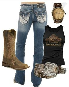 42 new Ideas western boats outfit summer country girls cowgirl Mode Country, Estilo Country, Country Wear, Country Girls Outfits, Country Girl Style, Country Fashion, Cowgirl Outfits, Cowgirl Style, Cowgirl Fashion