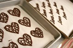 chocolate hearts for decorating cakes and cupcakes
