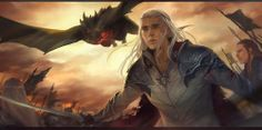 And in that moment, Thranduil looked on in horror, as his beloved was consumed by dragon fire...