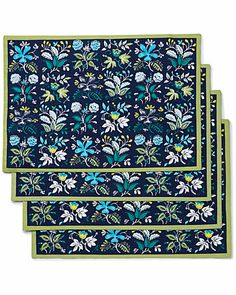"Some of you have to get in on this: ""Botanical Floral"" Set of 4 Placemats"