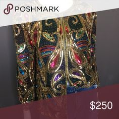 Beautiful Colorful Sequin Jacket!!! Jacket is in excellent condition!! Perfect for the holidays or just to have a great statement piece in your wardrobe!! Please make me an offer, NO TRADES!! Tops Tunics