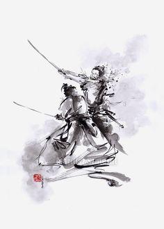 watercolorsforlandlubbers: Samurai Warrior...