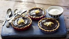 BBC Food - Recipes - Chocolate and ginger tarts