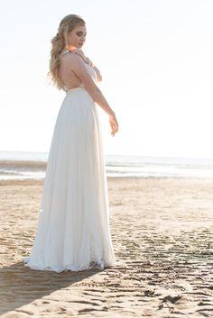 Our Robyn Dress - Beach Bride Shoot #beach #bridal #destinationwedding #wedding #dress #ellebay Photography by Warin Marie Photography