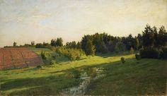 Evening Shadows - Isaac Levitan , Russian , Oil on canvas Russian Landscape, Landscape Art, Landscape Paintings, Landscapes, Green Art, Russian Art, Environmental Art, Light Painting, Figure Painting