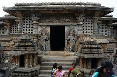 Hoysala temple in Halebid, East India