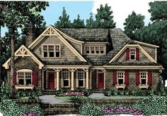 Summerlake - Home Plans and House Plans by Frank Betz Associates #summerlake #homeplans #frankbetz  #floorplans #capecod