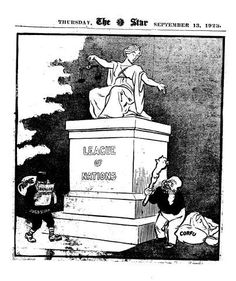 Artist:David Low (1891-1963)Published:The Star, 13 Sep 1923