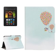 For+Kindle+Fire+HDX+7+Balloon+Pattern+Leather+Case+with+Holder+&+Card+Slots