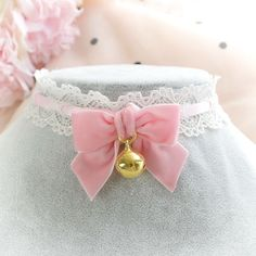 Your place to buy and sell all things handmade Kitten Play Collar, Harajuku, Kawaii Accessories, Kittens Playing, Neck Choker, Kawaii Clothes, Pastel Goth, Cosplay, Pink Fashion